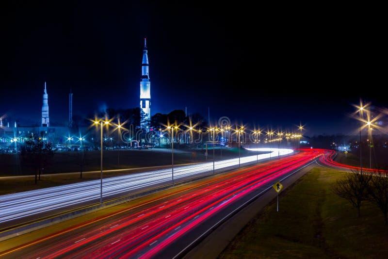 U S Διάστημα και κέντρο Χούντσβιλ, Al πυραύλων με στοκ εικόνες με δικαίωμα ελεύθερης χρήσης