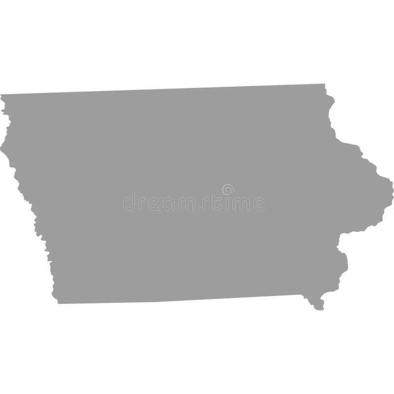 U S κράτος του Iowa ελεύθερη απεικόνιση δικαιώματος