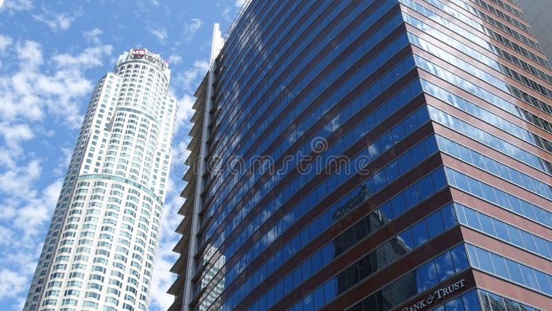 U S Πύργος τράπεζας στο στο κέντρο της πόλης Λος Άντζελες, Ηνωμένες Πολιτείες στοκ εικόνες