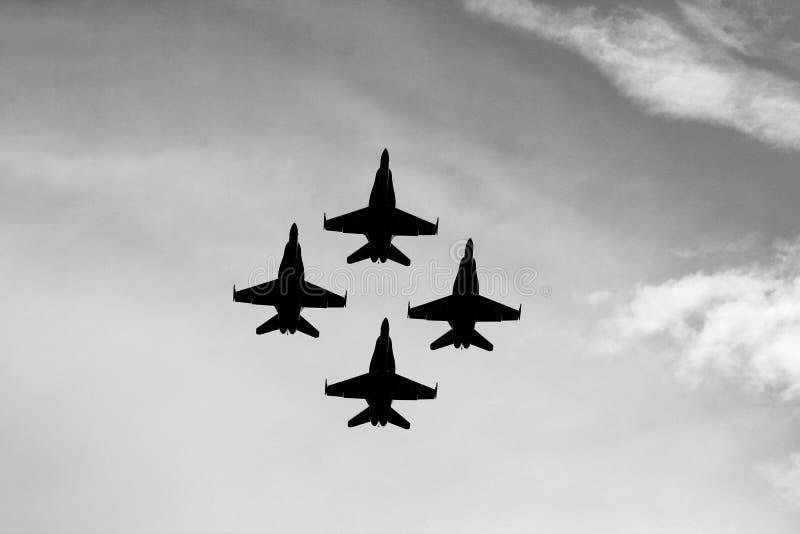 U S Ангелы военно-морского флота голубые над Мичиганом стоковые изображения