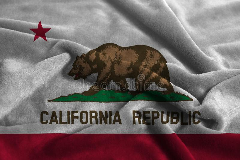 U S государство флага california стоковые фото