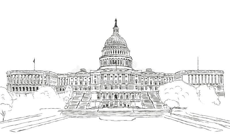 U S Капитолий стоковое изображение
