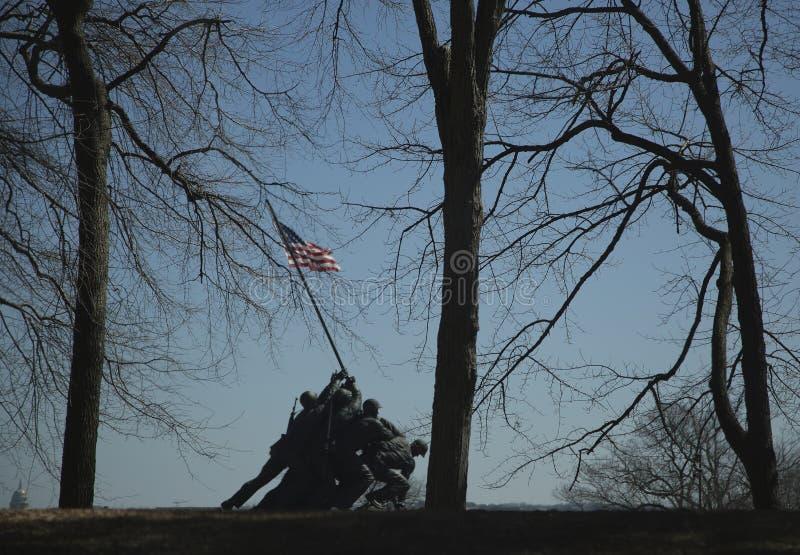 U S Морская пехот мемориальная в парке Арлингтон, Вирджинии стоковое изображение