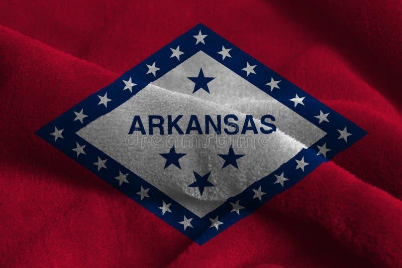 U S Национальный флаг Арканзаса стоковое фото rf