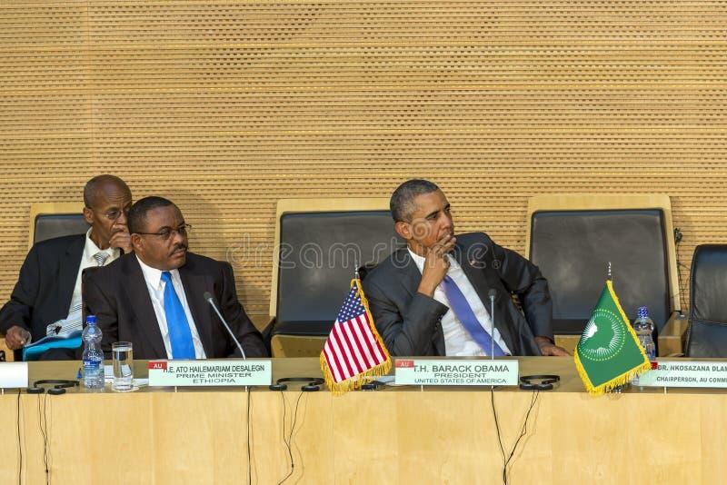 U S Президент Barack Obama делает его первое президентское посещение t стоковые фото