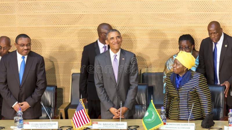 U S Президент Barack Obama делает его первое президентское посещение t стоковое изображение