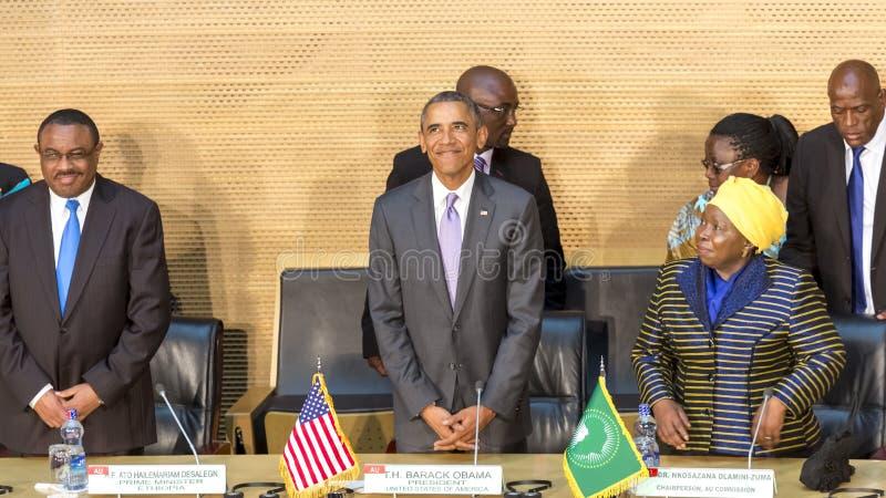 U S Президент Barack Obama делает его первое президентское посещение t стоковое изображение rf