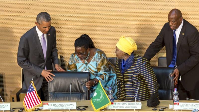U S Президент Barack Obama делает его первое президентское посещение t стоковая фотография rf
