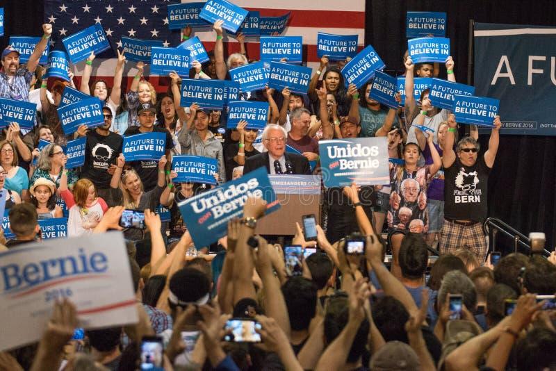 U S 总统候选人伯尼・桑德斯集会 免版税库存照片