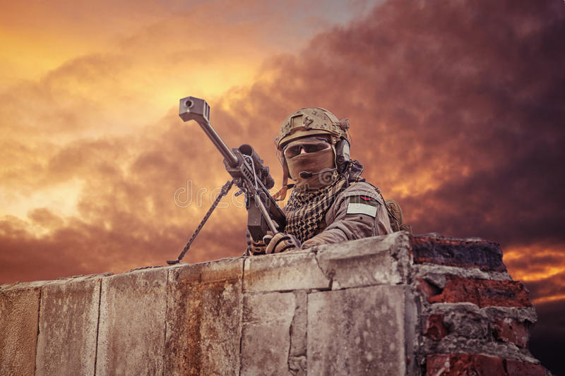 U S 军队狙击手 库存照片