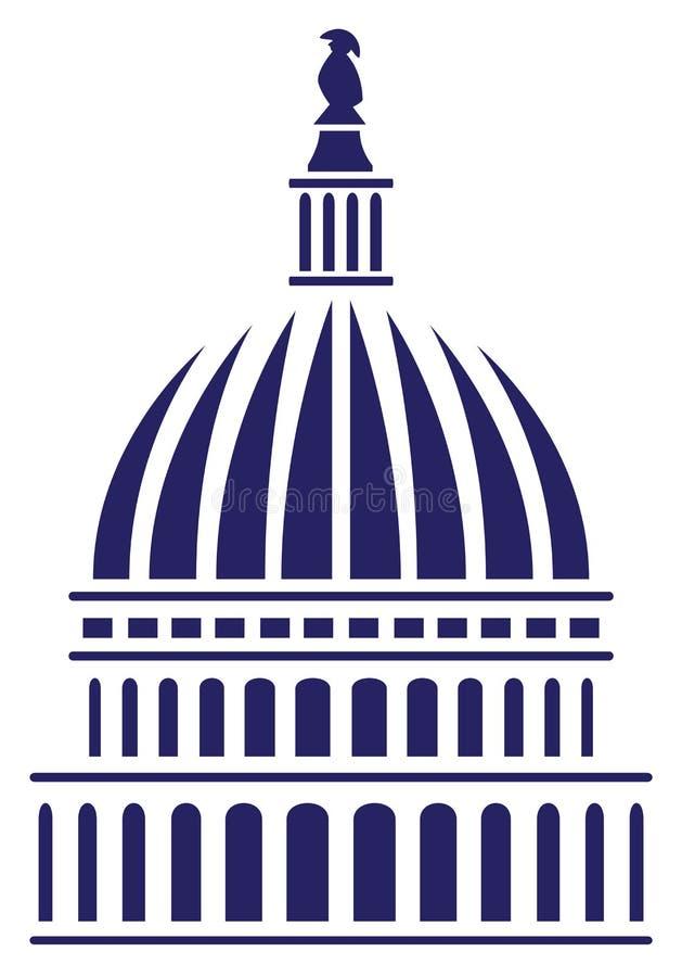U S 国会大厦圆顶传染媒介例证 库存例证