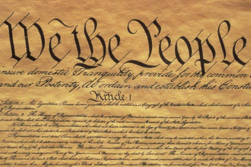 U.S. 宪法 库存图片