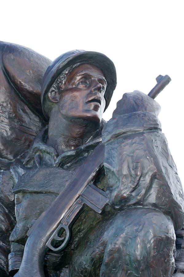 U S 海军纪念碑犹他海滩边 免版税库存照片