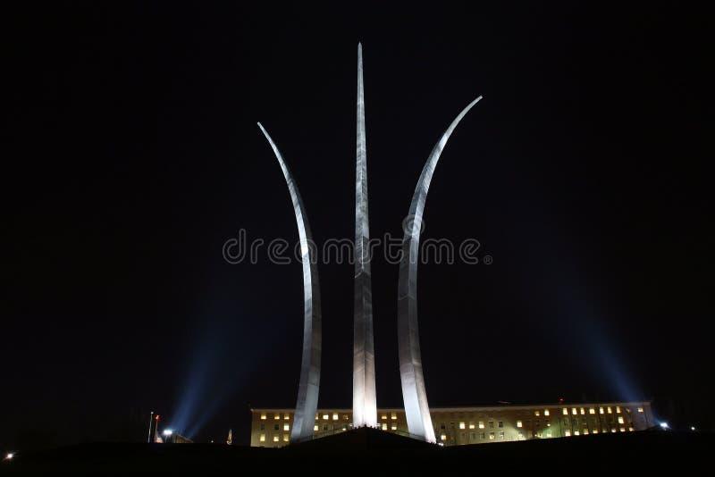 U.S. 空军队纪念品在晚上 免版税库存图片