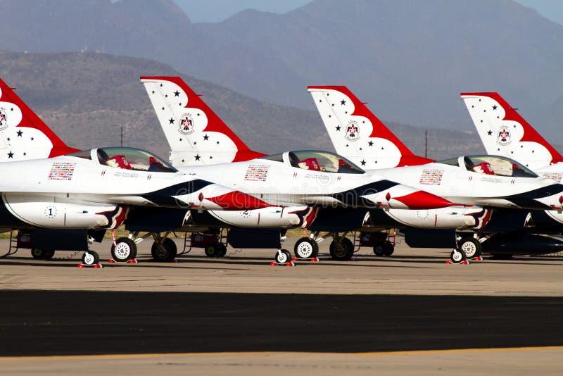 U.S. Air Force Air Show Thunderbirds stock photo