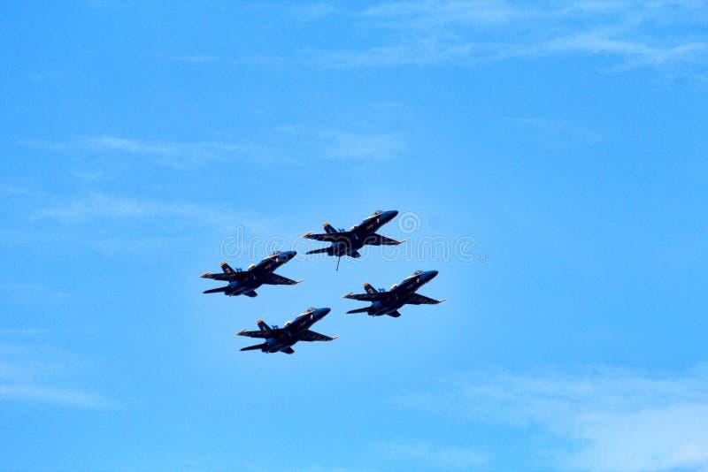 U S Anjos de azuis marinhos sobre Michigan fotos de stock