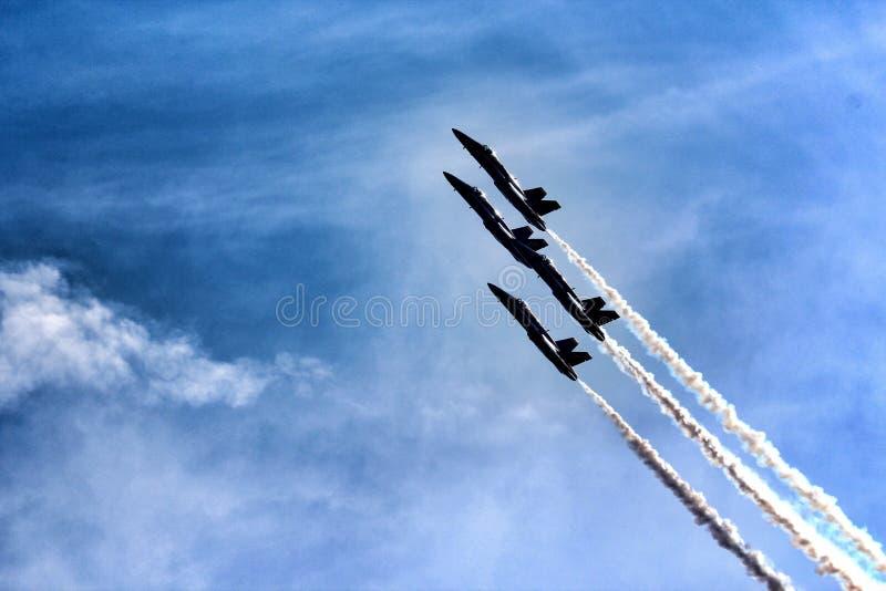 U S Anjos de azuis marinhos sobre Michigan foto de stock royalty free