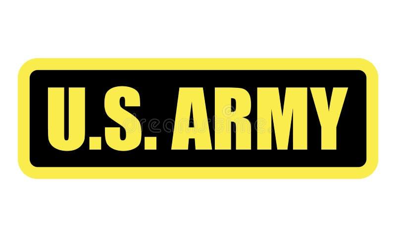 U S ARMÉemblem Vektor eps10 för symbol för USA arméemblem Militär skylt seger U S kraft royaltyfri illustrationer