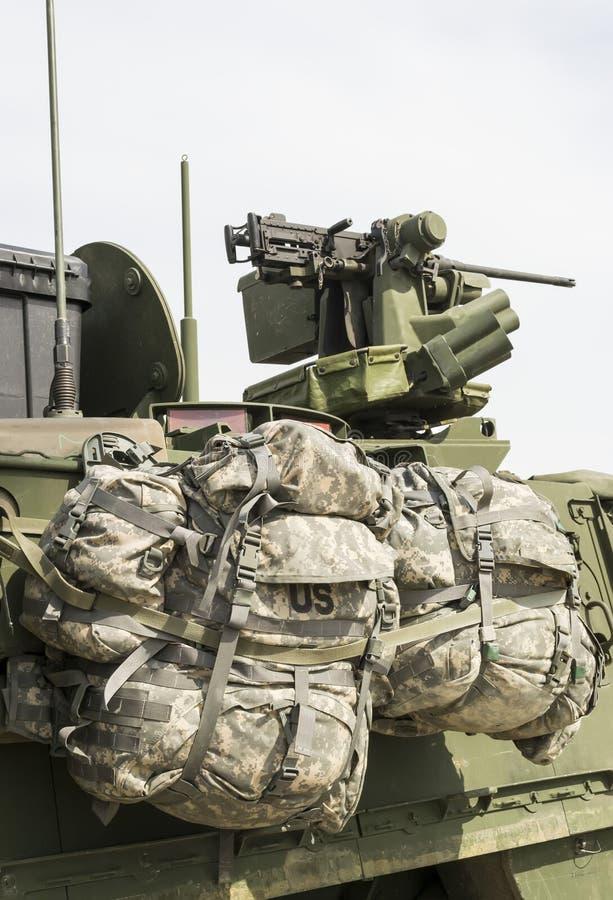 U S arméryggsäckar royaltyfria foton