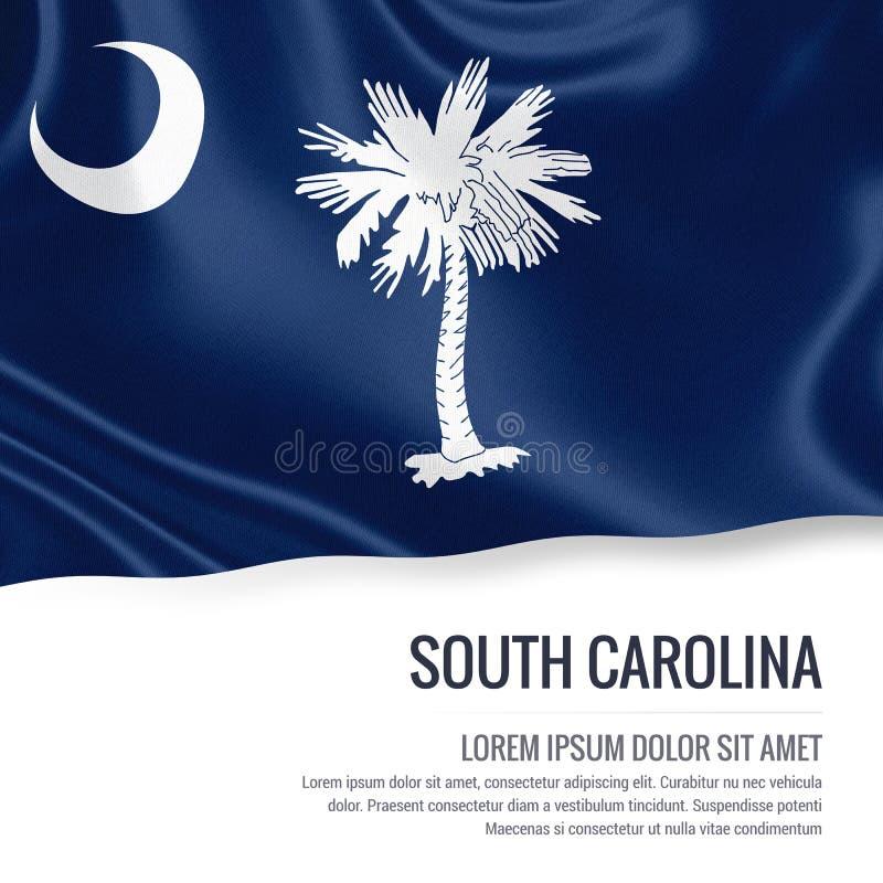 U S bandeira de South Carolina do estado ilustração royalty free