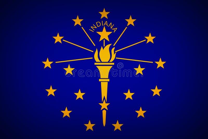 U S bandeira do stat de Indiana foto de stock
