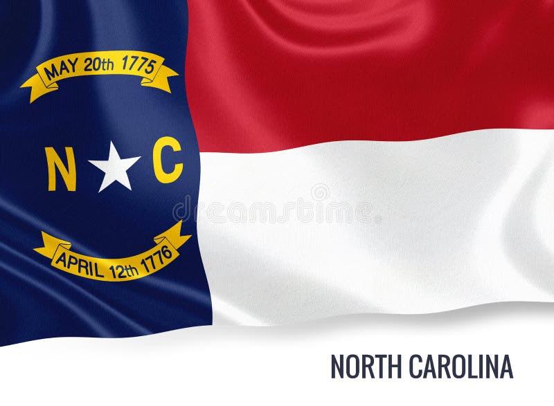 U S bandiera della Nord Carolina dello stato illustrazione vettoriale