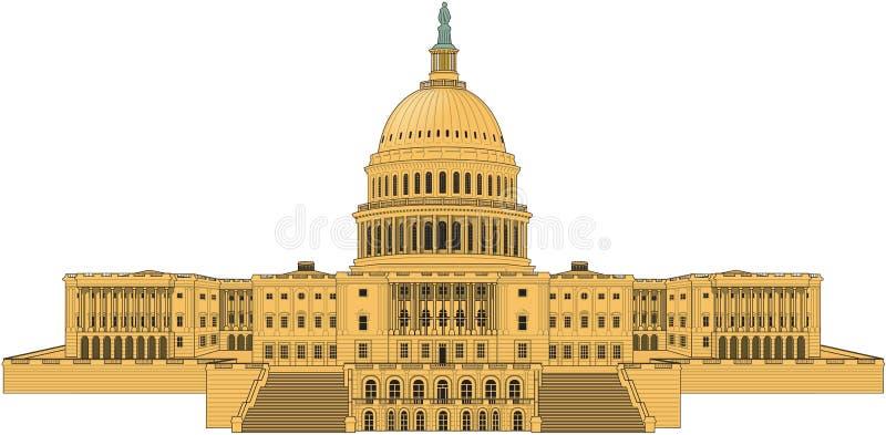 U S Capitol budynku wektoru ilustracja royalty ilustracja