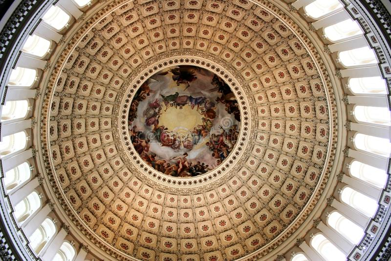 U.S. Capitol Dome interior stock photography