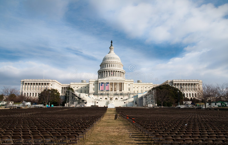 U.S. Capitol Before the Obama Inauguration royalty free stock image