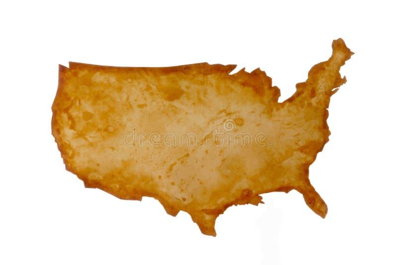 U.S.A. Carte illustration libre de droits