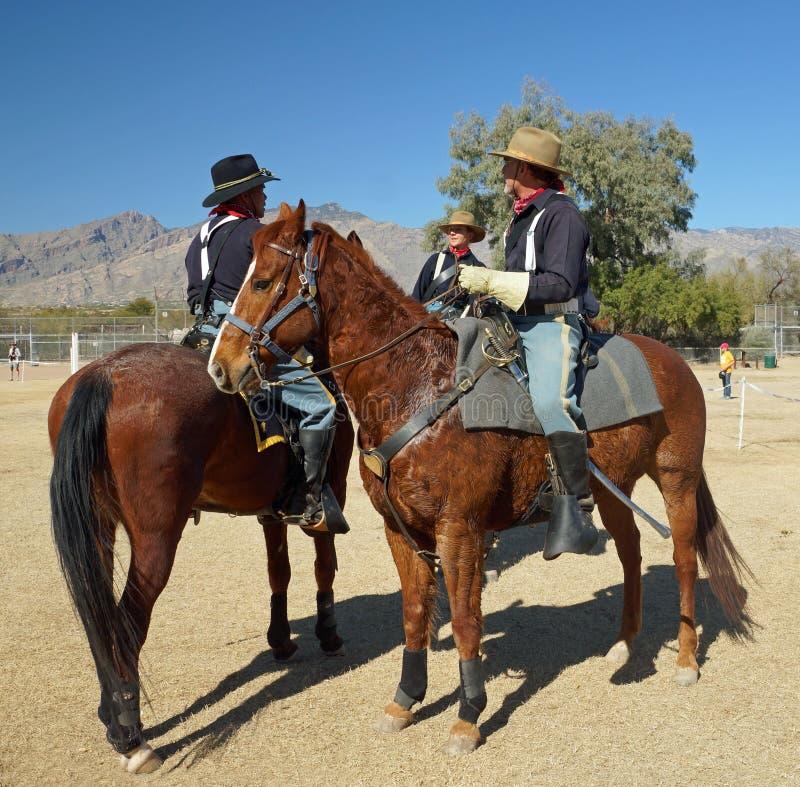 U.S. Cavalry soldiers stock image