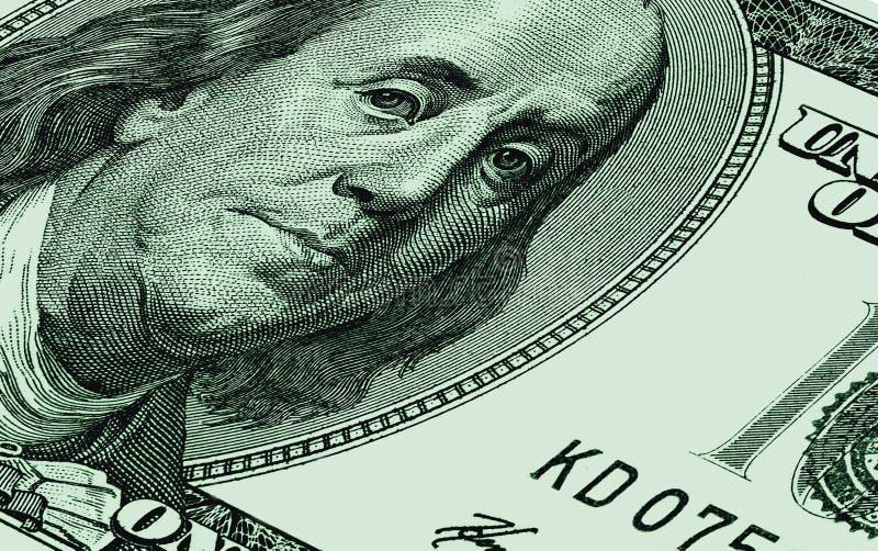 U.S.A. cento dollari da CU fotografia stock