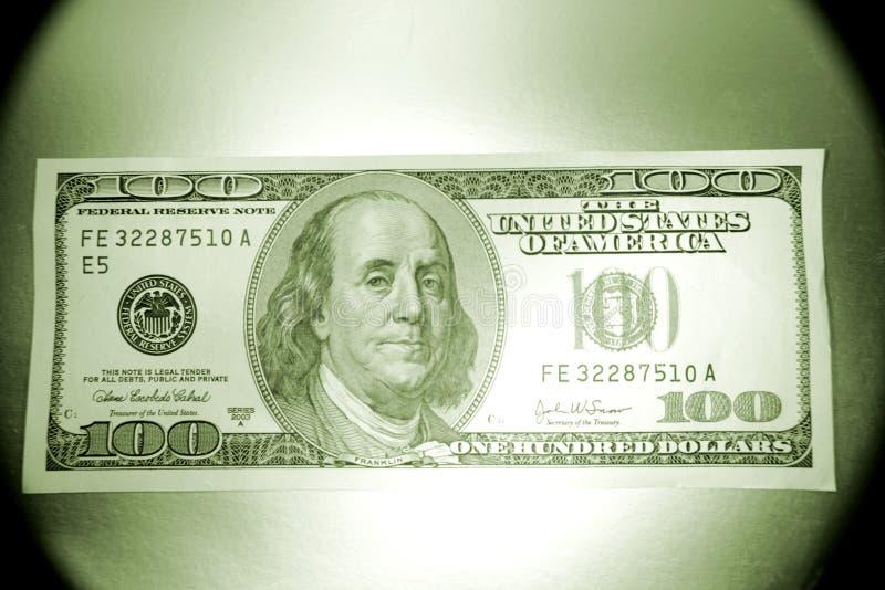 U.S. Cento fatture del dollaro    immagini stock libere da diritti