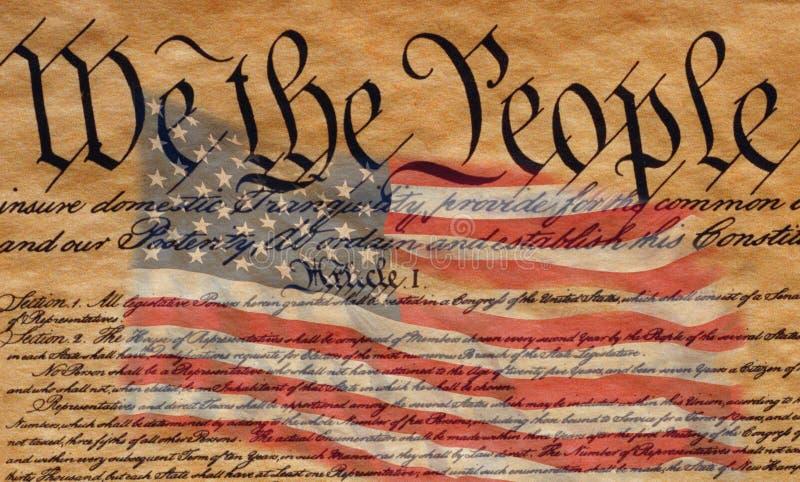 U.S. Constitución fotografía de archivo libre de regalías