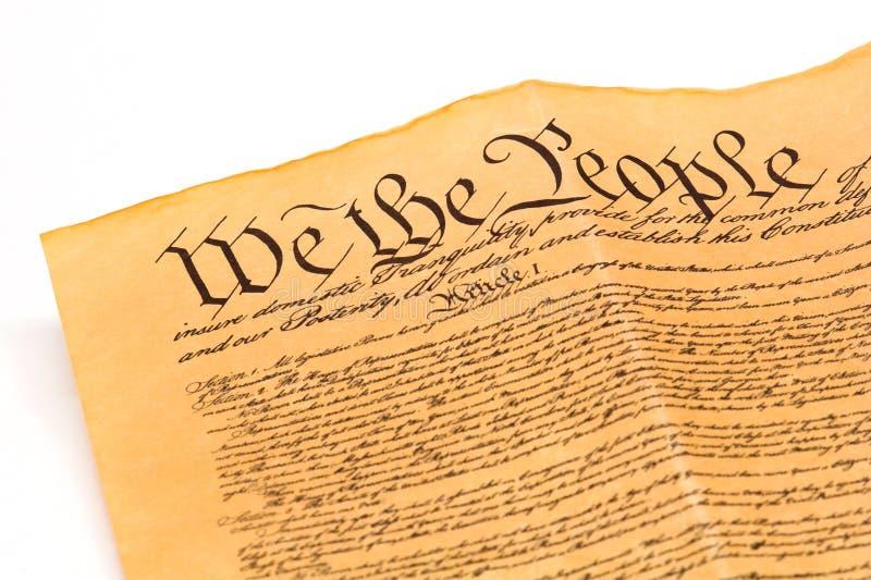 U.S. Constituição - nós os povos imagem de stock