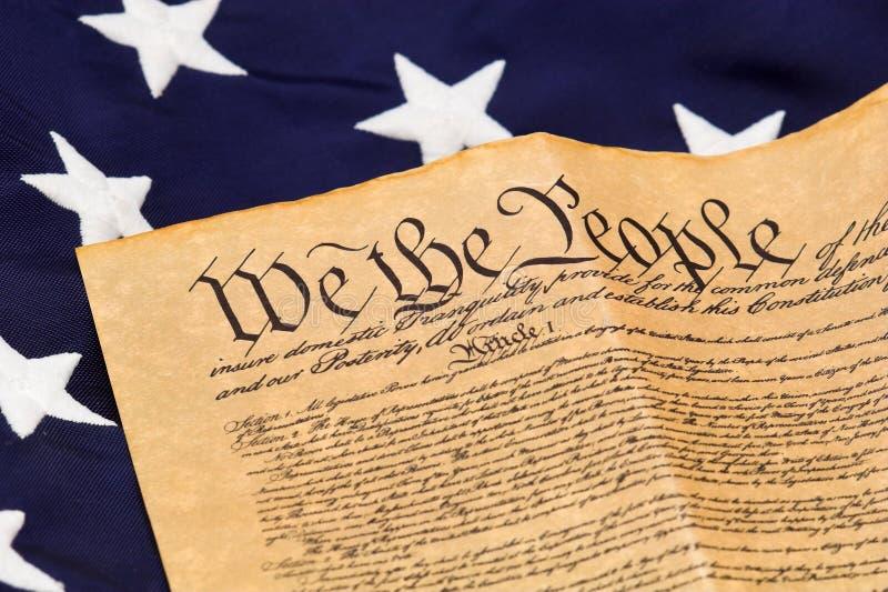 U.S. Constitution et étoiles images libres de droits
