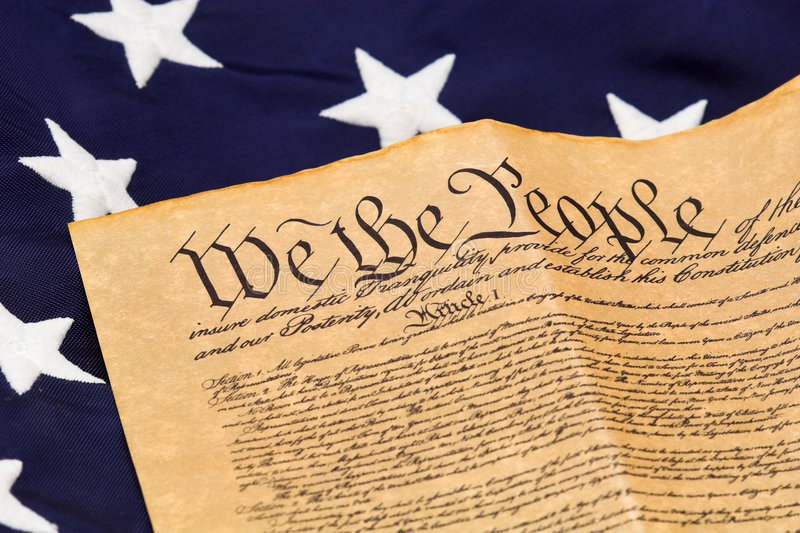 U.S. Constitution and Stars royalty free stock images