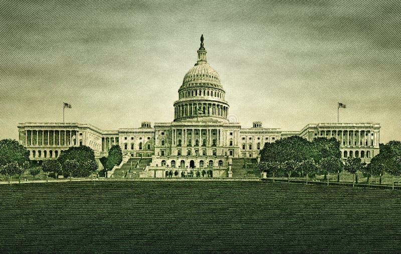 U S Construção do Capitólio da nota de dólar cinqüênta imagem de stock royalty free