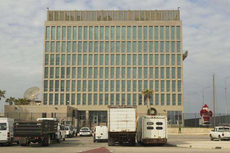 U S Consulado (embajada) en La Habana, Cuba fotos de archivo libres de regalías