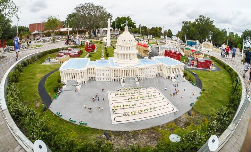 U.S. De hoofd Bouw in Legoland Florida Le stock fotografie