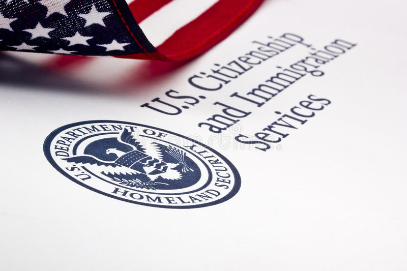 U.S. Department of Homeland Security Logo. Photograph of a U.S. Department of Homeland Security logo royalty free stock images