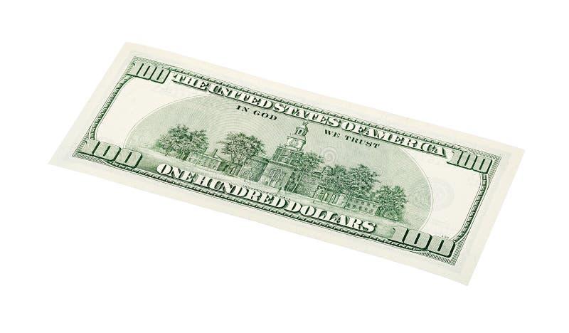 100 U.S. dollar bill, stack shot isolated on white background. 100 U.S. dollar bill, stack shot isolated on white royalty free stock image