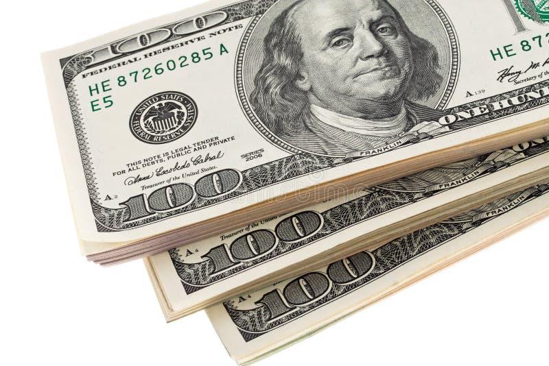 U.S. dollars de billets de banque photos stock