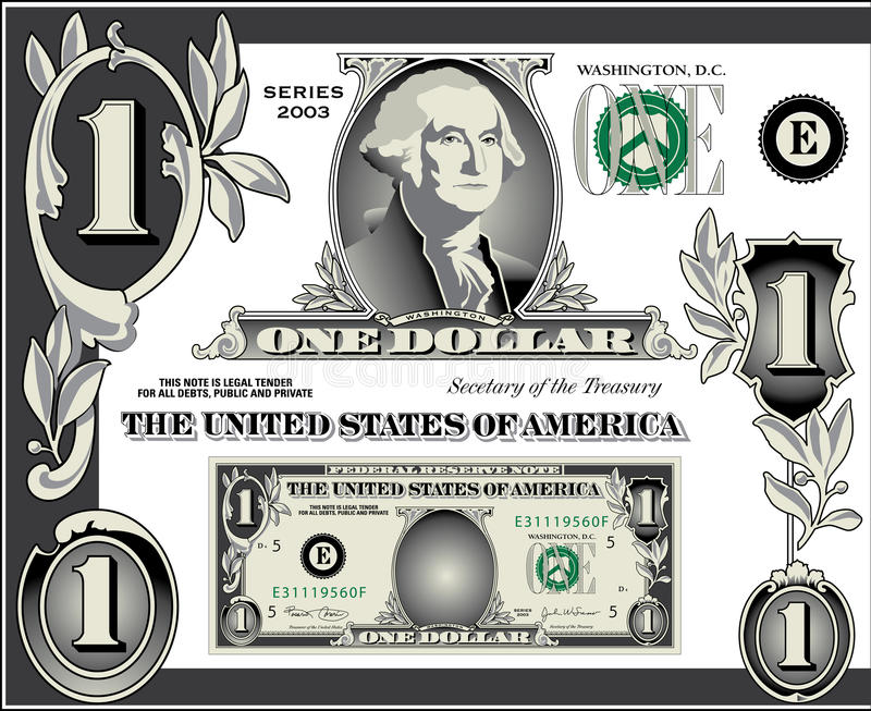 U.S. Dollarscheinelemente