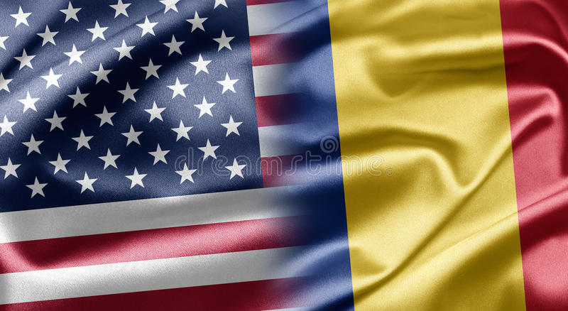 U.S.A. e la Romania illustrazione di stock