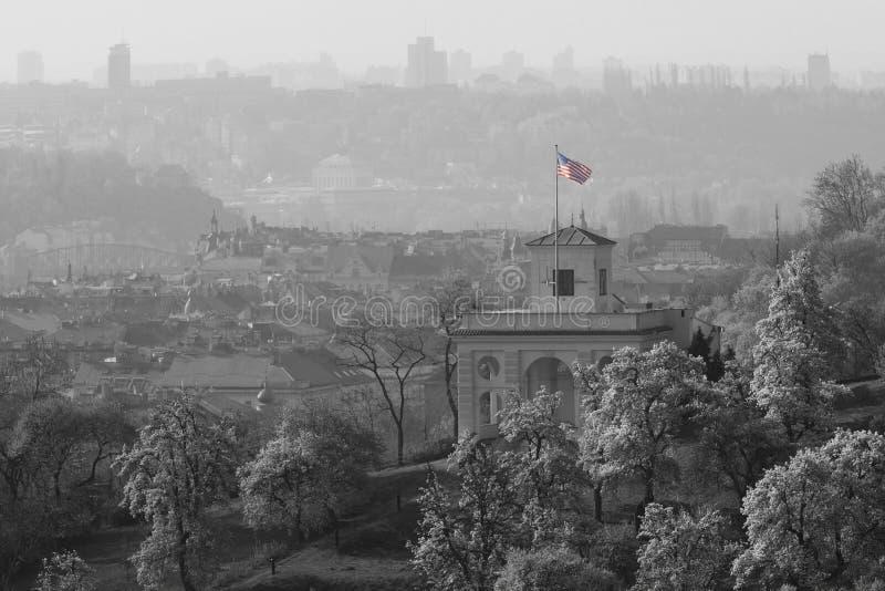 U.S. Embajada en Praga (República Checa) fotos de archivo