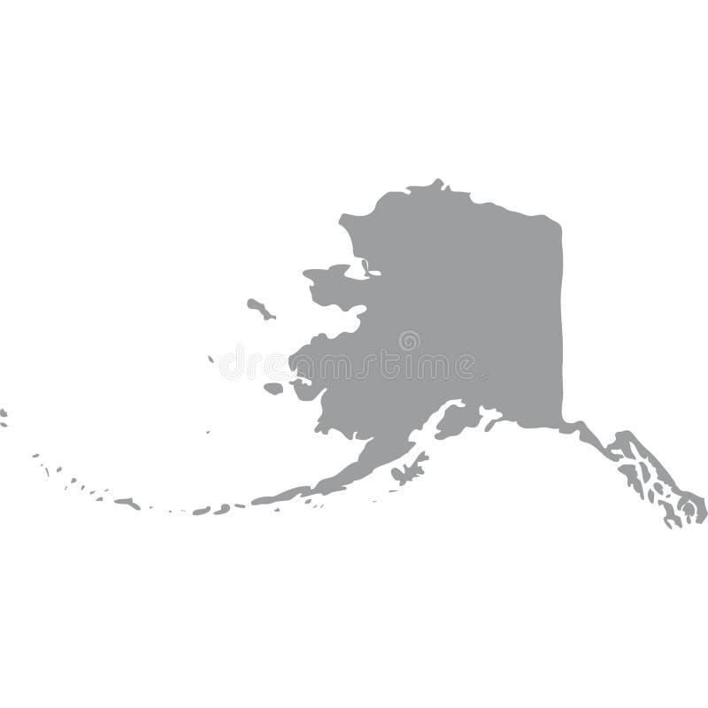 U S Estado de Alaska ilustração royalty free