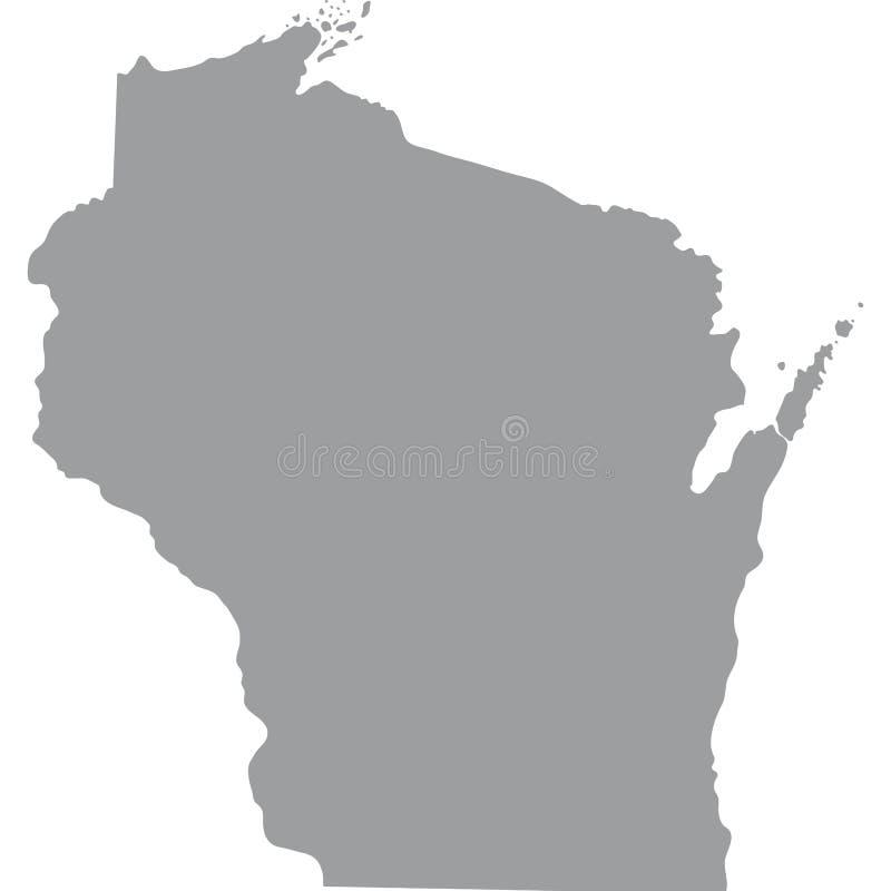 U S Estado de Wisconsin stock de ilustración
