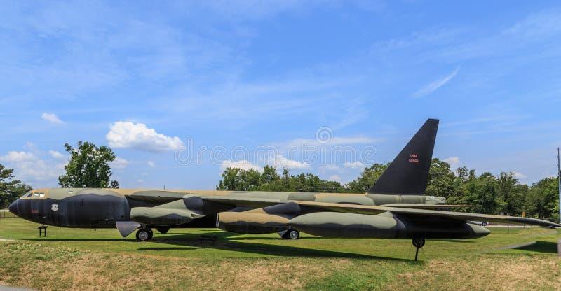 U.S.A.F.B-52 Stratofortress no museu da aviação Robbins AFB GA fotografia de stock