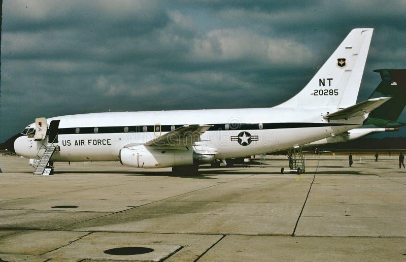 U.S.A.F. Boeing T-43A 72-0285 usado treinando navegadores foto de stock royalty free